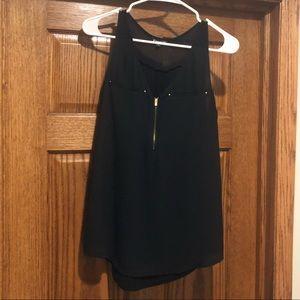 EXPRESS black tank top with gold zipper
